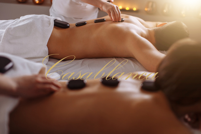 Casablanca Hot Stone massages Cologne, erotic sensual, the hot stone massage for men, massages in Cologne, on demand with a happy ending.